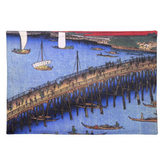 Ryōgoku Bridge and the Great Riverbank (両国橋大川ばた) Placemat