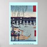 Ryogoku in the eastern capital by Ando, Hiroshige Print