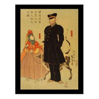 Ryōko del shōnin de Amerika del torai de Yokohama Tarjetas Postales