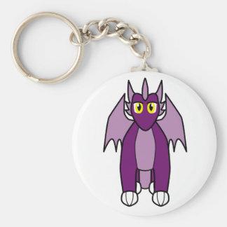 Rythia the Amethyst Dragon Basic Round Button Keychain