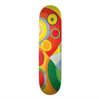 Rythme Joie de Vivre by Robert Delaunay Skateboard Deck