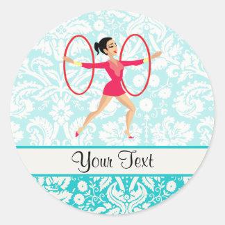 Rythmic Gymnastics Hoops Classic Round Sticker