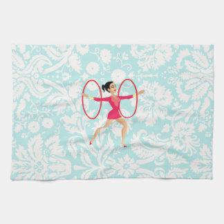 Rythmic Gymnastics Hoops Kitchen Towel
