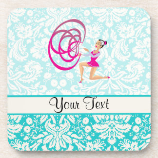 Rythmic Gymnastics Ribbon Beverage Coaster