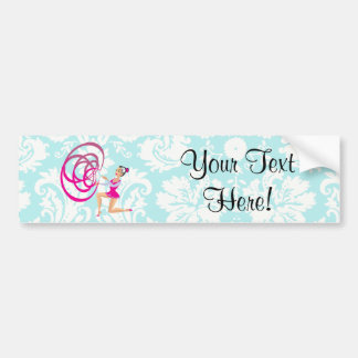 Rythmic Gymnastics Ribbon Car Bumper Sticker