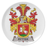 Rytter Family Crest Party Plates