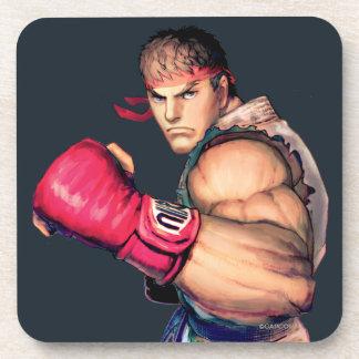 Ryu con el puño aumentado posavasos de bebida