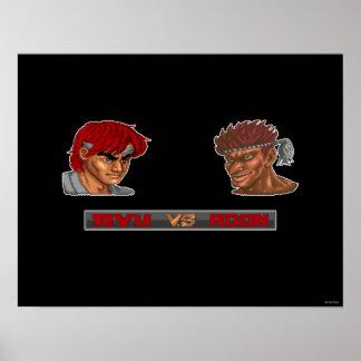 Ryu contra Adon Póster