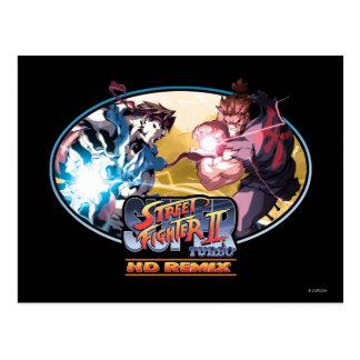 Ryu contra Akuma 2 Tarjeta Postal