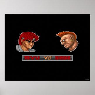 Ryu contra chirrido póster