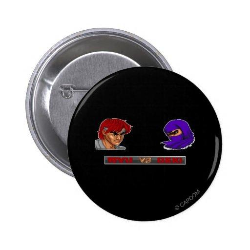 Ryu contra Geki Pin Redondo De 2 Pulgadas
