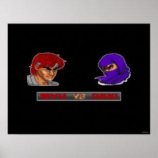 Ryu contra Geki Póster