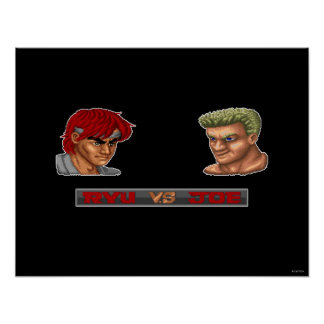 Ryu contra Joe Póster