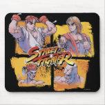 Ryu contra Ken y Adon contra Sagat Tapete De Ratón
