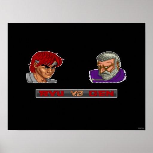 Ryu contra la GEN Póster