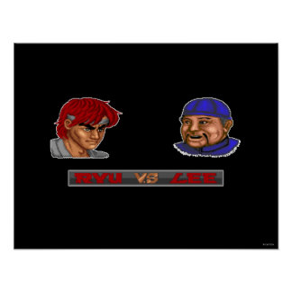 Ryu contra Lee Póster