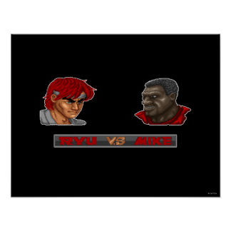 Ryu contra Mike Póster