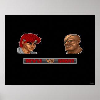 Ryu contra Sagat Póster