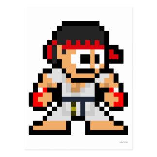 Ryu de 8 bits tarjetas postales