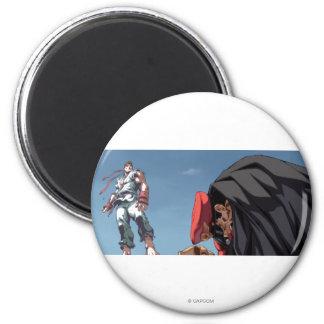 Ryu Defeat Bison Magnet