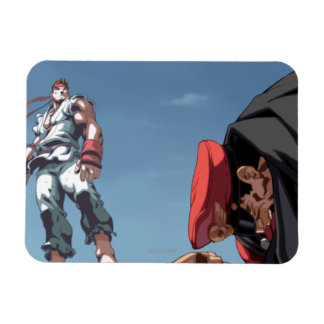 Ryu Defeat Bison Rectangular Photo Magnet