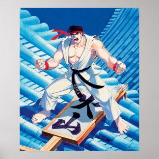 Ryu en el tejado impresiones