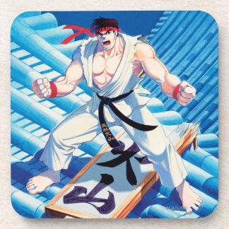 Ryu en el tejado posavasos