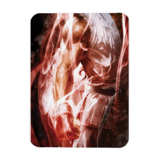 Ryu Glowing Right Arm Rectangle Magnets
