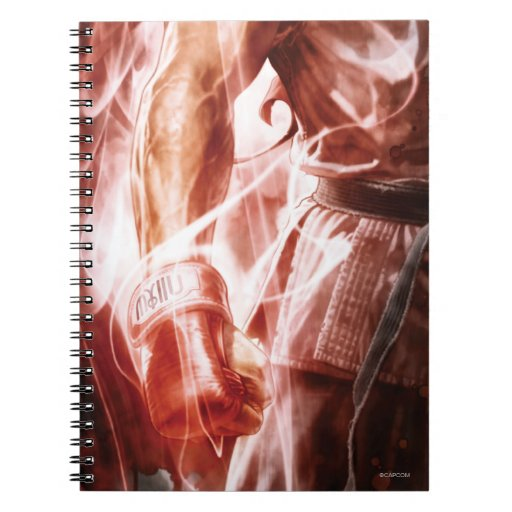 Ryu Glowing Right Arm Spiral Note Books