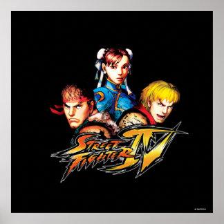 Ryu, Ken y Chun-Li Poster