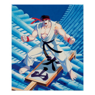 Ryu on Roof Poster