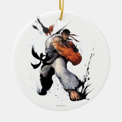 Ryu Punch Christmas Tree Ornaments