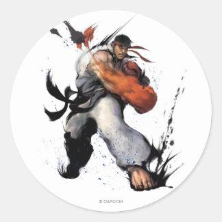 Ryu Punch Classic Round Sticker