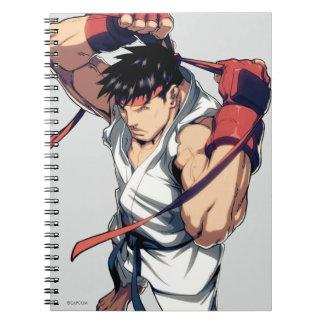 Ryu que ata la venda libretas