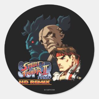 Ryu, Sagat & Akuma Classic Round Sticker