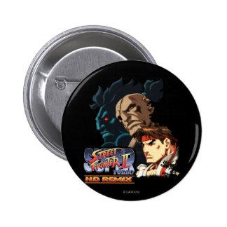 Ryu, Sagat & Akuma Pinback Button