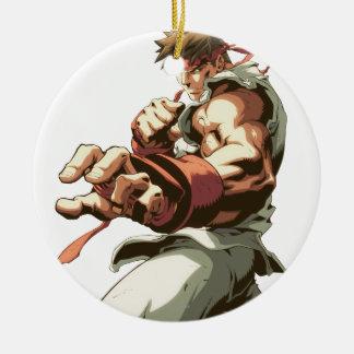 Ryu Stance Ceramic Ornament