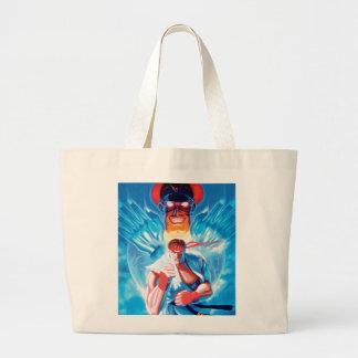 Ryu Versus Bison Tote Bags