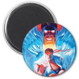 Ryu Versus Bison Fridge Magnet