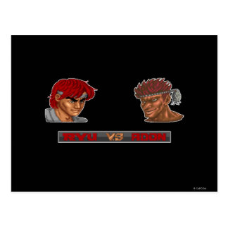 Ryu Vs Adon Postcard