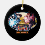 Ryu Vs Akuma 2 Christmas Ornaments