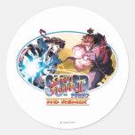 Ryu Vs Akuma Classic Round Sticker