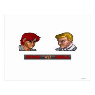 Ryu Vs Eagle Postcard