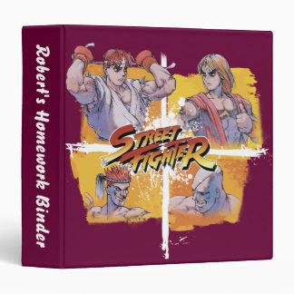 Ryu Vs Ken & Adon Vs Sagat 3 Ring Binder