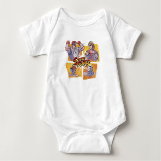Ryu Vs Ken & Adon Vs Sagat Baby Bodysuit