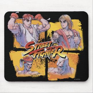 Ryu Vs Ken & Adon Vs Sagat Mouse Pad