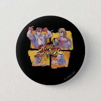 Ryu Vs Ken & Adon Vs Sagat Pinback Button