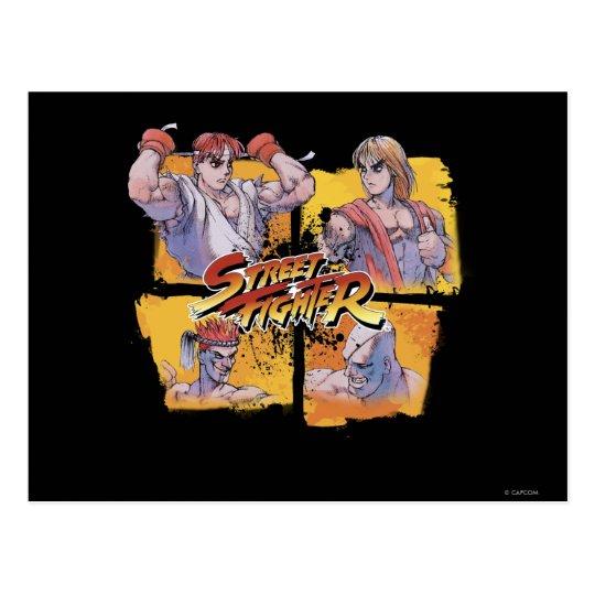 Ryu Vs Ken & Adon Vs Sagat Postcard