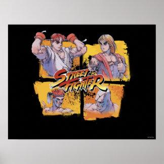 Ryu Vs Ken & Adon Vs Sagat Poster