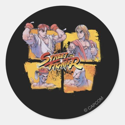 Ryu Vs Ken & Adon Vs Sagat Sticker